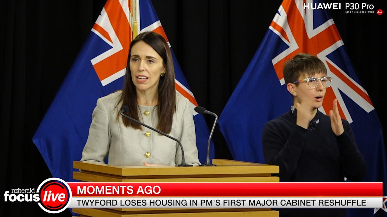 Prime Minister Jacinda Ardern has stripped Phil Twyford of his Housing portfolio